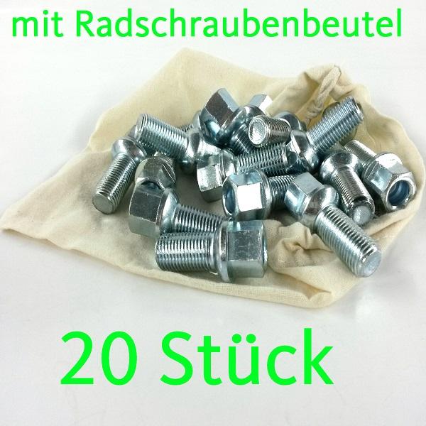10 Chrom Radschrauben M14 x 1.5 x 37 Kugel Kugelbund SEAT Skoda Audi Alufelgen